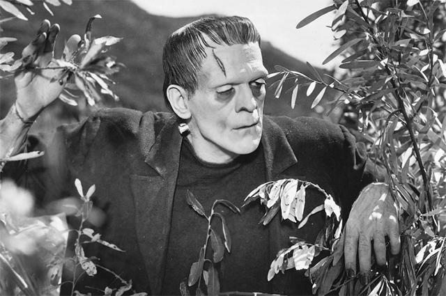 Борис Карлофф в образе чудовища Франкенштейна в экранизации 1931 года