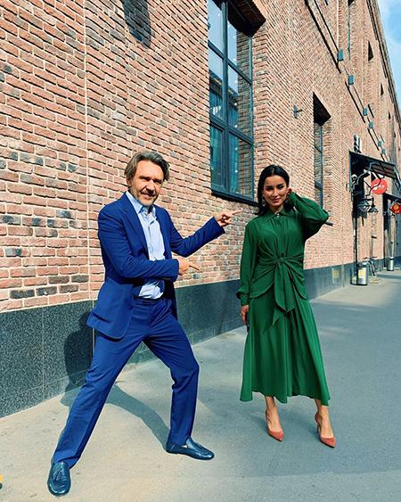 Сергей Шнуров и Тина Канделаки