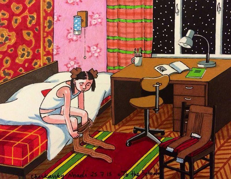71695 О детстве в СССР: душевные картины израильской художницы