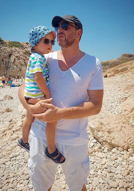 Максим Виторган с сыном Платоном