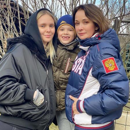 Ольга Кабо с дочкой и сыном