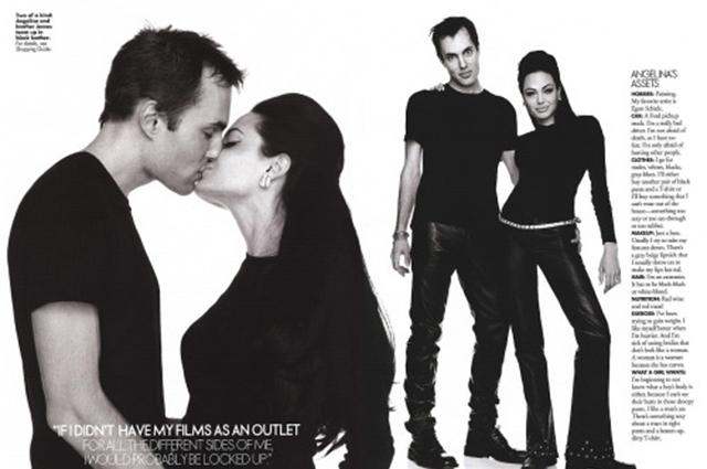 Анджелина Джоли с братом Джеймсом