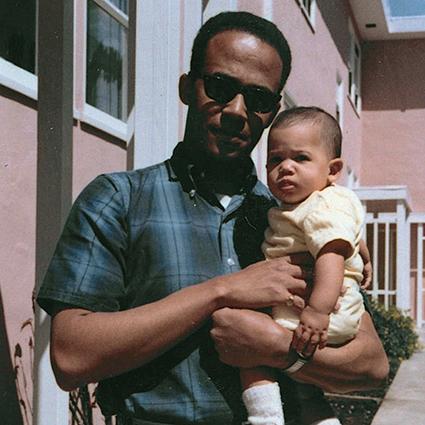 Камала Харрис с отцом