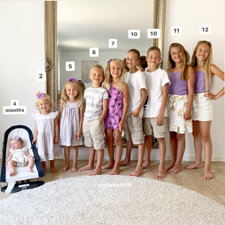 Беременна уже 13 лет: девушка родила 9 детей до своего 35-летия