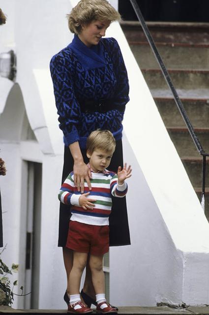 Принцесса Диана и принц Уильям