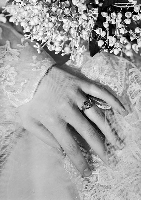 Помолвочное кольцо, 1940-е годы