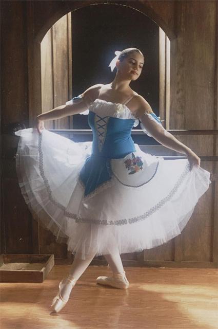 Джулия Дель Бьянко в возрасте 15 лет