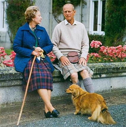 Королева Елизавета II и принц Филипп