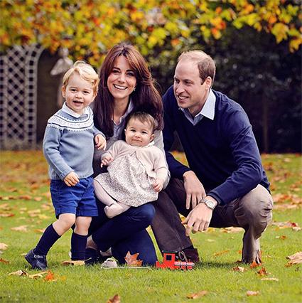 Принц Уильям и Кейт Миддлтон с сыном Джорджем и дочерью Шарлоттой