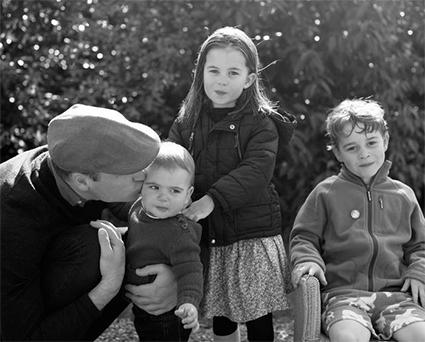 Принц Уильям с детьми Луи, Шарлоттой и Джорджем