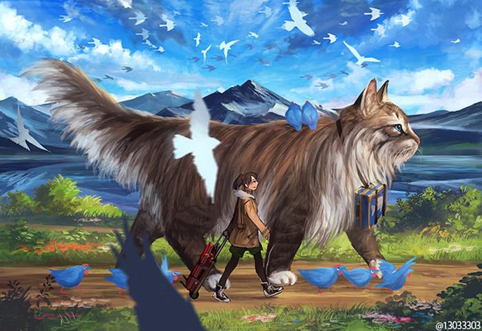 81468 Japanese Illustrator Creates a World Of Giant Animals