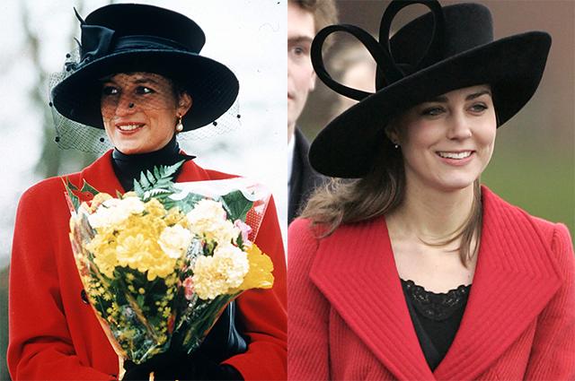 По наследству: как Кейт Миддлтон вдохновлялась модными образами принцессы Дианы