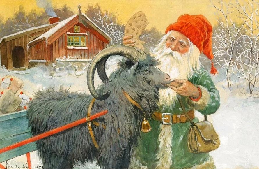 Йоулупукки и козёл