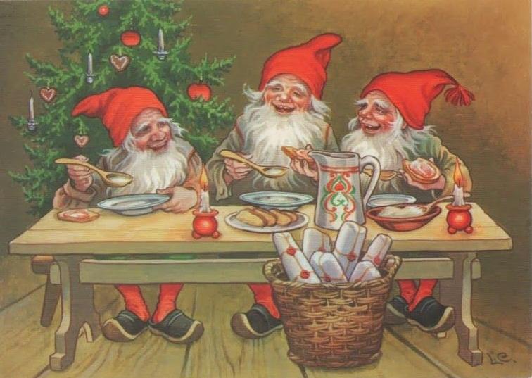Скандинавские гномы едят кашу