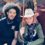 86065 Мадонна с бойфрендом Ахламаликом Уильямсом и младшими детьми путешествует по Африке