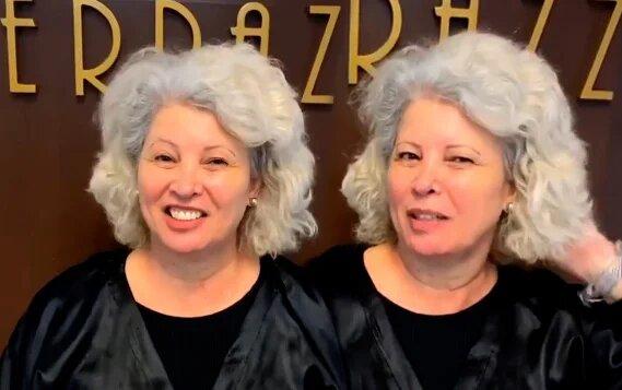 Женщине надоело ходить с прической как у «пуделя». Новая стрижка и цвет волос «стерли» с её лица 10 лет!