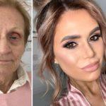 84955 Визажист с помощью косметики омолодила свою 80-летнюю бабушку