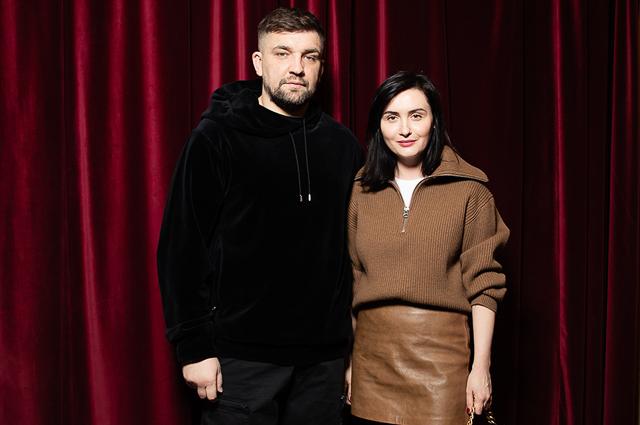 Баста с женой Еленой Пинской-Вакуленко