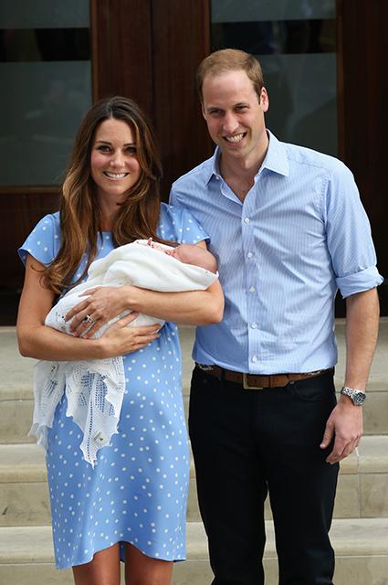 Кейт Миддлтон и принц Уильям с сыном принцем Джорджем