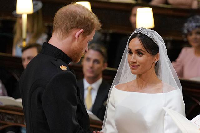 Принц Гарри и Меган Маркл на своей свадьбе