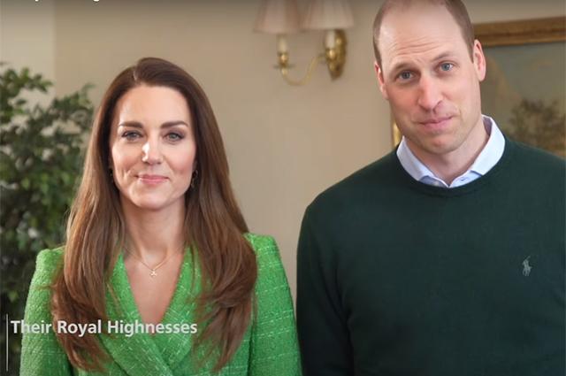Кейт Миддлтон и принц Уильям поздравили всех с Днем святого Патрика: видео