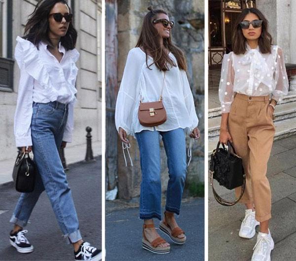 98768 С чем, куда и как правильно носить белую блузку